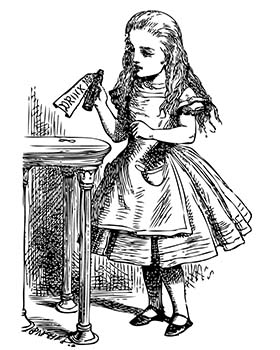 Artist drawing of Alice from Alice in Wonderland