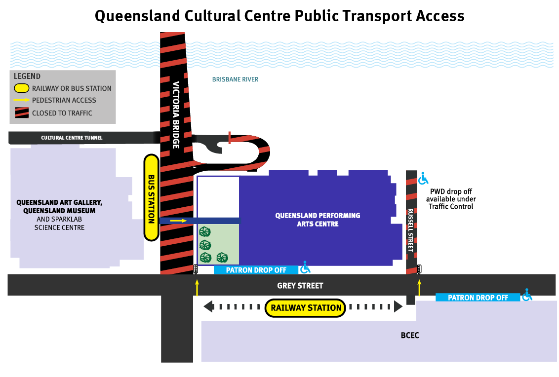 Public Transport near QPAC